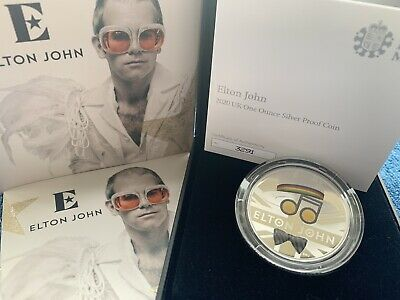 IN HAND! 1oz Elton John 2020 UK One Ounce Silver Proof Coin Limited Edition 7500 • 199.99£
