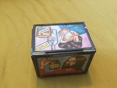 1960/70s Hippie Smokers/drug Tin Box LSD John Lennon Timothy Leary  • 30£
