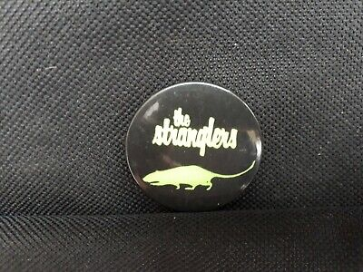 Vintage - The Stranglers – Green Rat Button Badge 1970's • 2.15£