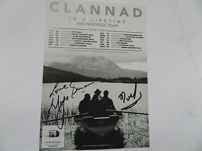 Clannad Autographed Tour Flyer, Signed By Moya And Noel Brennan. • 19.99£