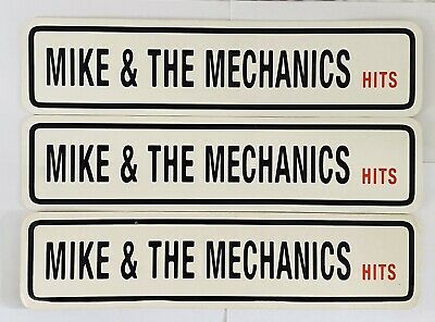 Mike & The Mechanics 3x 1996 Promotional Number Plates For The Hits, Rare • 20£