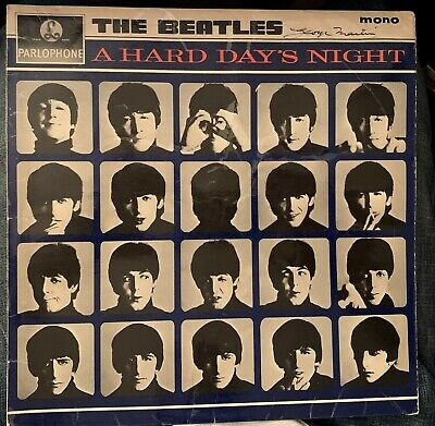 Fab Autograph Beatles Album A Hard Days Night Signed By Producer George Martin  • 269.99£