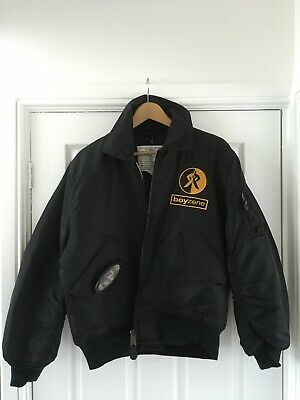 Boyzone Official Bomber Style Jacket With 3d Pin Badge Rare Ronan Keating • 19.99£