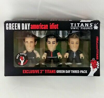 Green Day Band Titans Vinyl Figures Set American Idiot Hot Topic Exclusive NEW • 19.74£