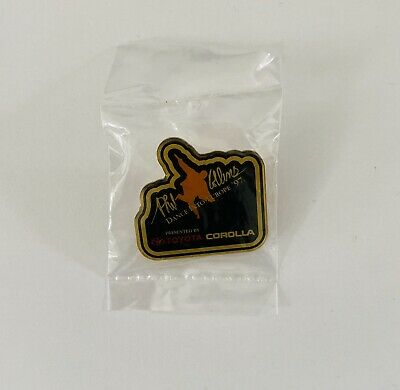 Phil Collins 1997 Dance Into Europe Tour Pin Badge Black - Brand New, Sealed Bag • 8£