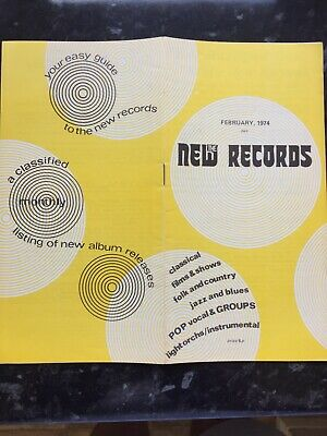 New Record Brochure 1974 T.rex Zinc Alloy • 3£