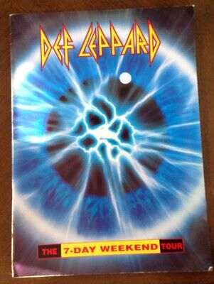 Def Leppard 1992 - 3 The 7-day Weekend Tour Concert Program Book Booklet • 5.69£