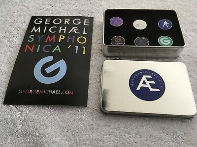 George Michael Symphonica Official Fanclub Pin Badge Set Limited Rare Wham • 19.99£