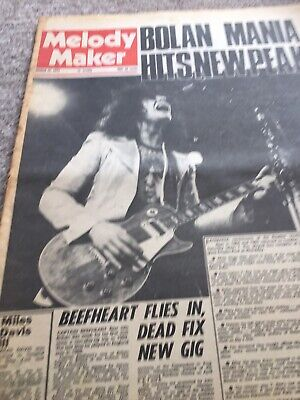 Marc Bolan  T.rex Melody Maker Wembley March 1972 Concert • 9£