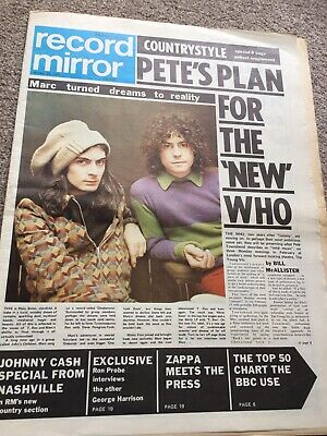 Marc Bolan Record Mirror Jan 1971 • 9£