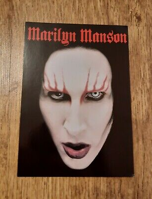 RARE Marilyn Manson Postcard VGC Unused Holywood Era Collectable  • 2.50£