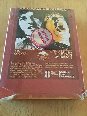 Joe Cocker Doubleback =2 Albums Joe Cocker& With A Little Help ...8 Track Tape • 6£
