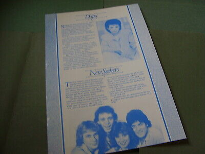 Dana & New Seekers Eurovision Song Contest 1987 UK Publicity • 2.80£