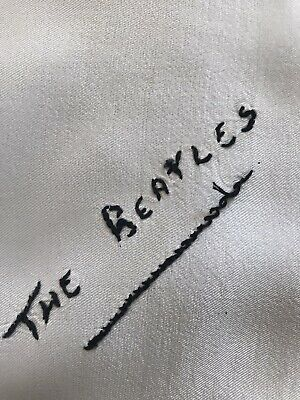 Original 1960's The Beatles Signed Head Scarf. Made In Italy. Good Condition. • 18£