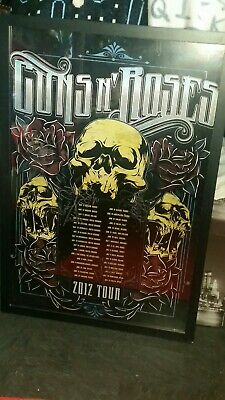 Guns N Roses SIGNED 2012 Tour Poster From London VIP Meet & Greet - Ashba - Reed • 50£