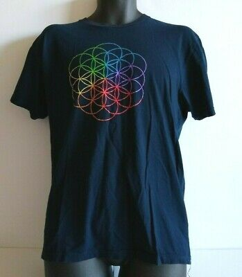Coldplay A Head Full Of Dreams 2016 World Tour T Shirt Blue Size L • 12.77£