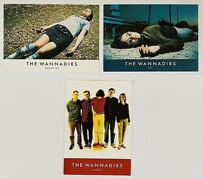 The Wannadies TRIPLE Promo Postcards - Shorty, Bagsy Me, Hit • 2£