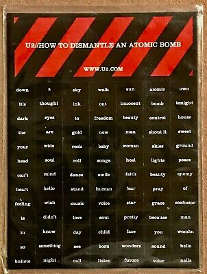 U2 - RARE COLLECTORS ITEM ~ How To Dismantle An Atomic Bomb MAGNET SHEET • 42.98£