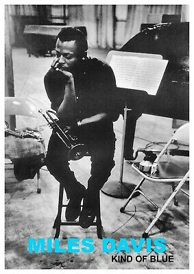 Reproduction  Miles Davis - Kind Of Blue  Poster, Jazz, Vintage Print, Size: A2 • 13.50£