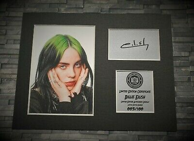Billie Eilish - Signed Autograph Display Print - Mounted - Ready To Be Framed • 11.99£