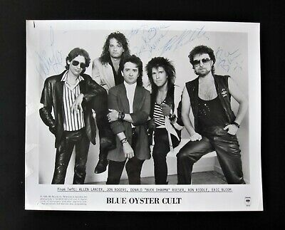 Blue Oyster Cult - Signed 1988 Autographed Promotional Photo CBS Records • 99£
