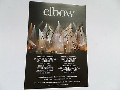 Elbow Signed Tour Flyer, Signed By Guy,richard,mark And Pete. • 19.99£