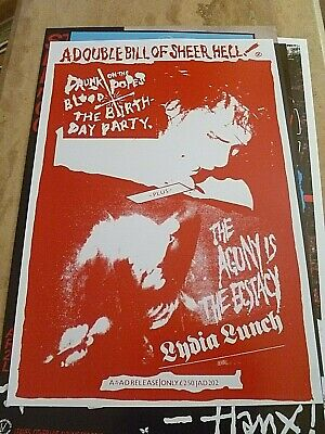 Nick Cave/ The Birthday Party/lydia Lunch Reproduction 'sheer Hell' Poster  • 10£