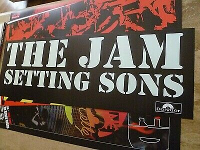 The Jam Reproduction 'setting Sons' Banner Style Poster, 80 Cm X 27 Cm • 15£