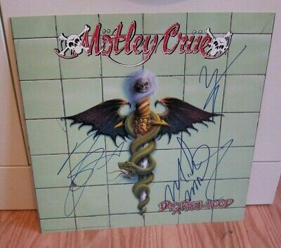 Motley Crue - Signed Dr. Feelgood Promo Flat By Nikki, Vince And Mick • 370.40£