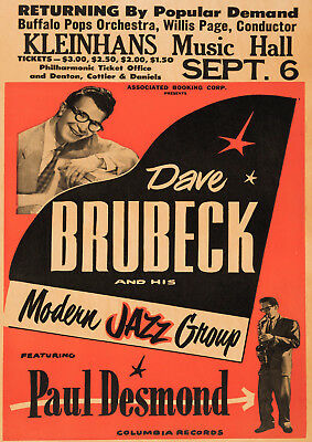 Reproduction  Dave Brubeck  Poster, Jazz, Home Wall Art, Vintage Print • 12£
