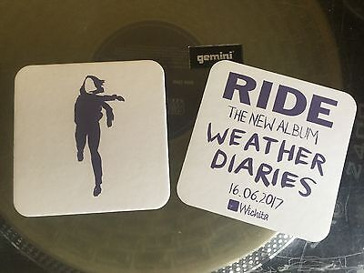 Ride - Weather Diaries. Promotional Coasters X2.  • 1£