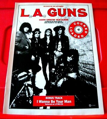 LA/L.A.Guns Cocked And Loaded Vintage ORIG 1989 Press/Magazine ADVERT 11.5 X 8.5 • 1.99£
