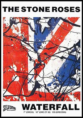 Reproduction The Stone Roses Poster,  Waterfall  Indie, Manchester • 12£