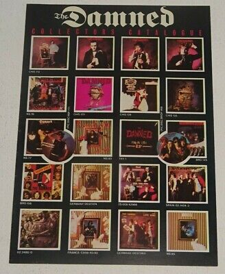 THE DAMNED Collectors Catalogue A5, 4-page Limited Discography BIG BEAT RECORDS • 2£