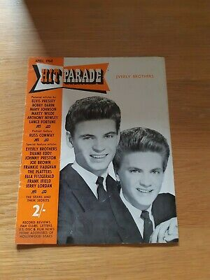 Hit Parade April 1960 Magazine - Everly Brothers • 5£