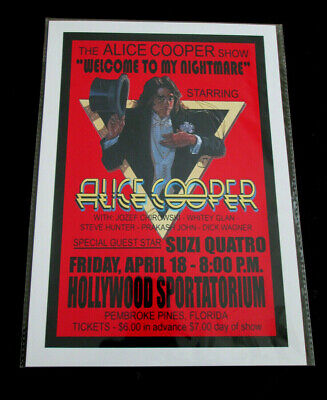Alice Cooper : Hollywood Sportatorium  : A4 Glossy Repo Poster • 3.99£