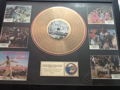 Cliff Richard Gold Disc Presentation - Summer Holiday With Rare Film Photos • 150£