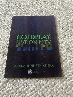 Coldplay - Promo Postcard • 1.10£