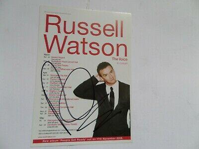 Russell Watson , Autographed 6 X 4 Tour Flyer. • 4.99£