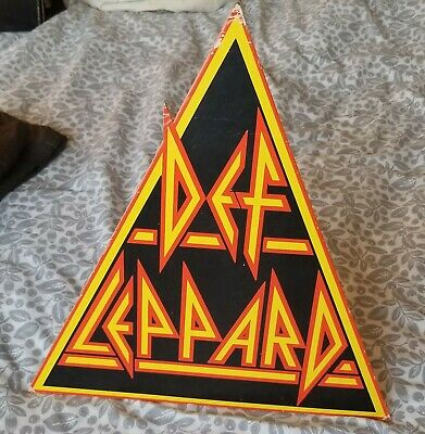 Def Leppard Promo Shop Advertising Stand For Hysteria • 29£