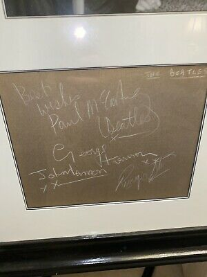 1963 Beatles Autographs And Unused Ticket From Gaumont Doncaster • 3,000£