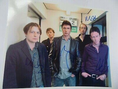 Suede Autographed 10 X 8 Photograph. Signed By 4. • 49.99£