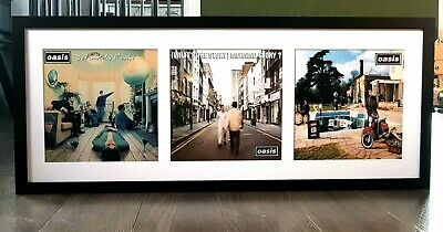 Oasis Definitely Maybe/Framed Album Covers-Prints-Liam Gallagher-Live Forever  • 49.99£