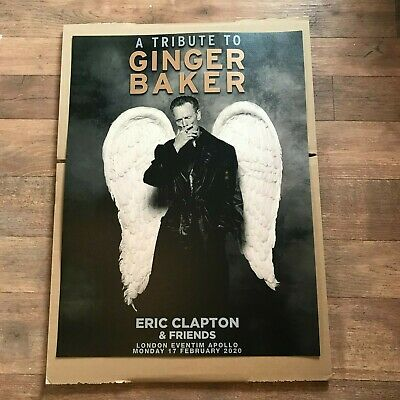 Eric Clapton &Friends A Tribute To Ginger Baker Official Concert Print 2020 NEW  • 15£
