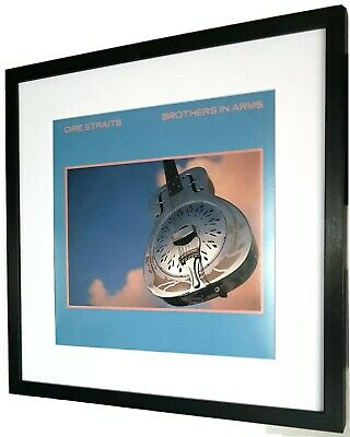 Dire Straits-Brothers In Arms/Luxury Framed ORIGINAL 1985 ALBUM COVER-Large • 44.99£