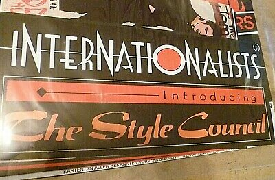 The Style Council Alternate 'internationalists' Banner Poster 70 Cm X 30 Cm • 15£