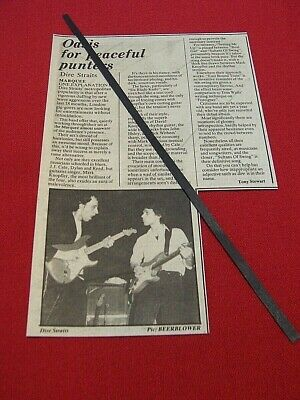 Dire Straits Original March 1978 Gig Concert Review The Marquee London • 7.99£
