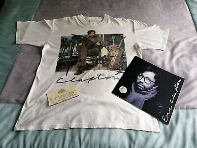 ERIC CLAPTON  1992 World Tour  T-shirt(XL)+Programme, Badge & Ticket • 39.99£