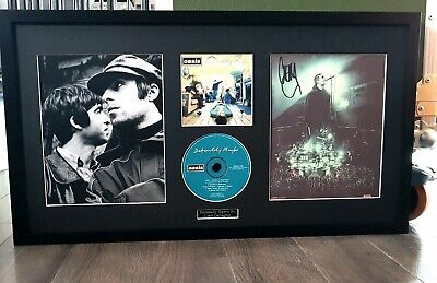 LIAM Gallagher Signed/framed/OASIS Definitely Maybe/Original CD/INCREDIBLE Item • 184.99£
