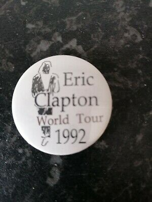 Eric Clapton World Tour 1992 Badge • 4.75£